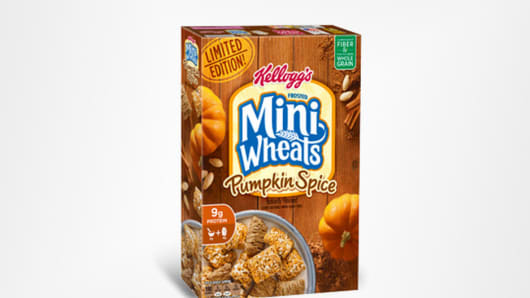 Kellogg's Frosted Mini Wheats Pumkin Spice