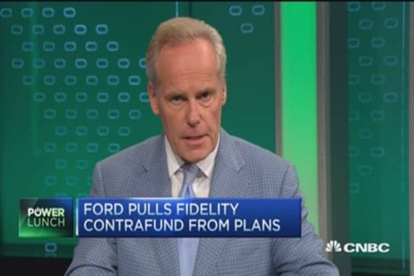 Ford pulls Fidelity Contrafund from plans
