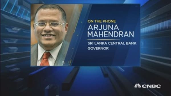 Sri Lanka's Mahendran: Not worried about capital outflows