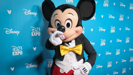 Mickey Mouse at D23 Expo.