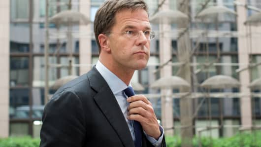 Mark Rutte, Dutch prime minister.