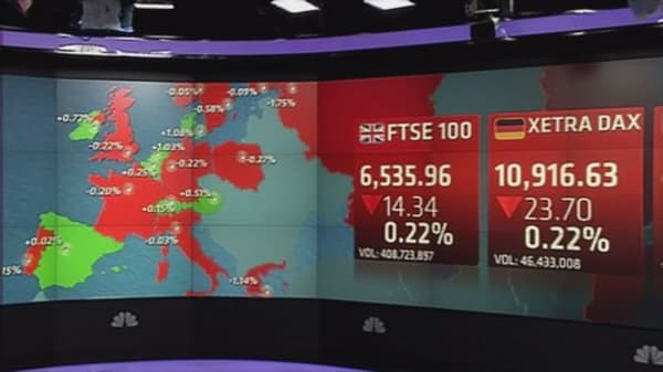 Yuan, Chinese stock rout weighs on Europe markets