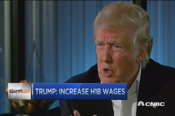 Trump: Increase H1B wages