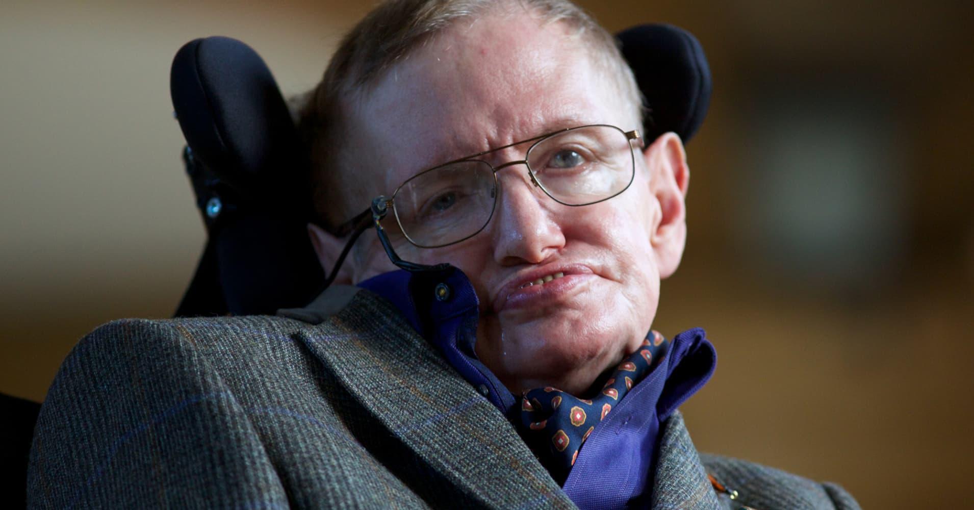 Theoretical physicist Stephen Hawking.