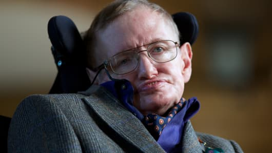 Theoretical physicist Stephen Hawking.