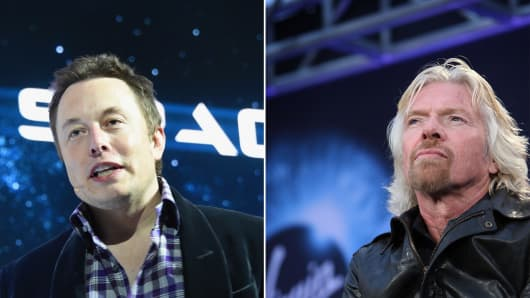 A legal space race is brewing between Elon Musk and Richard Branson.