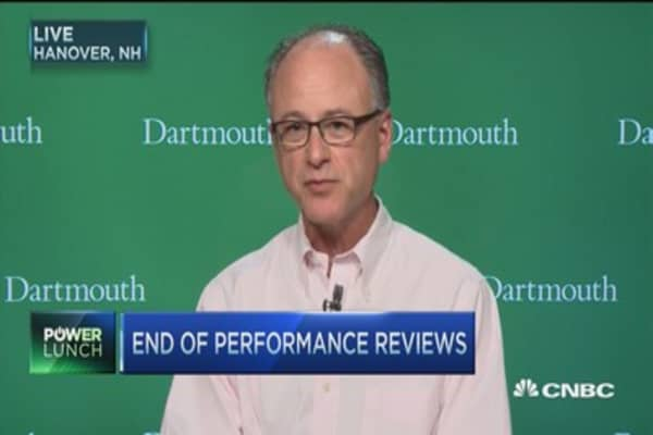 End of performance reviews