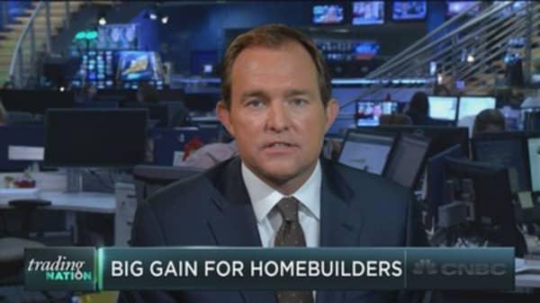 Homebuilding stocks jump
