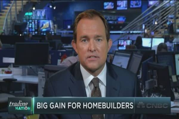 Homebuilding stocks jump
