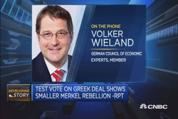 Don't worry about bailout vote: German 'wiseman'