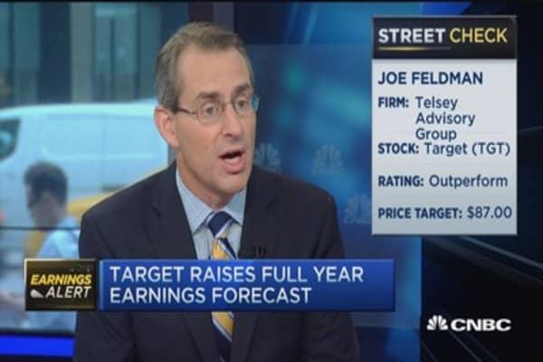 Target beats Street, raises forecast