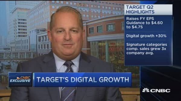 Target CFO: Really pleased with growth