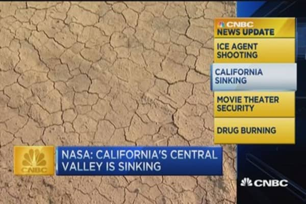 CNBC update: California Valley sinking