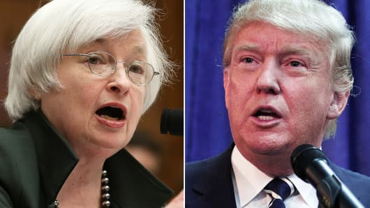 Janet Yellen and Donald Trump