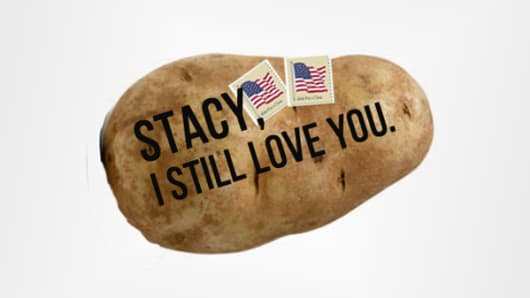 A potato message from Potatoparcel.com