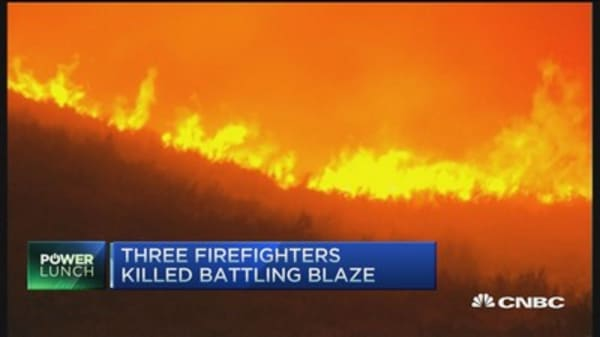 3 Firefighters killed battling wildfire