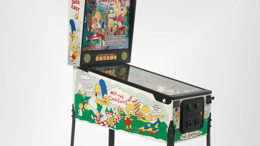 The Simpsons Data East Pinball Machine Circa 1990