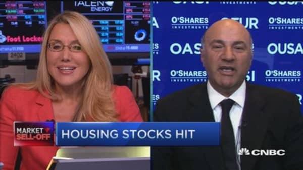 Housing stocks hit after hot streak