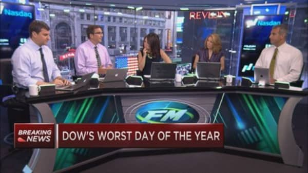 The Dow's very, very bad day