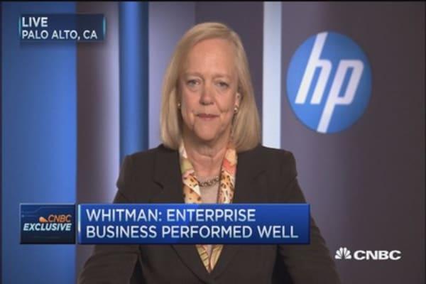 HP Enterprise Group highlights quarter: Meg Whitman