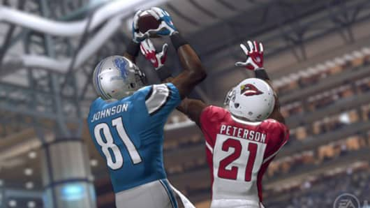Screen image from Madden NFL 16