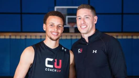 Stephen Curry and Jordan Fliegel