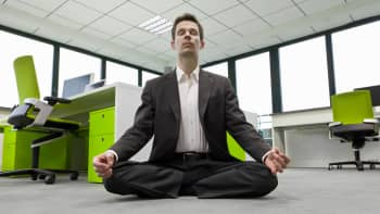 Businessman meditation
