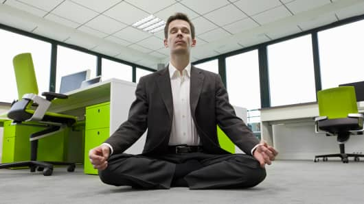 Businessman meditation