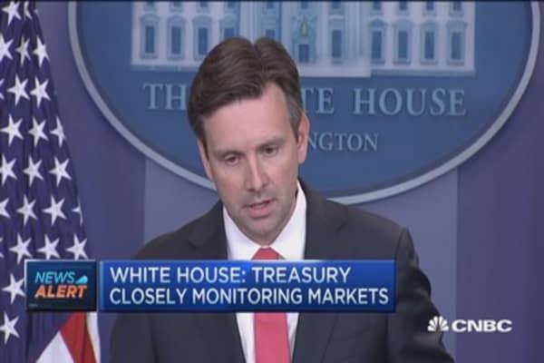 White House: Treasury closely monitoring markets