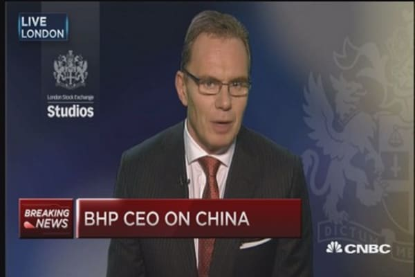 BHP CEO 'bullish' on China
