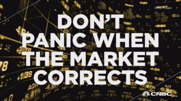 Here's why you don't panic when the market corrects