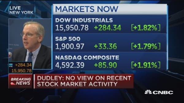 Fed's Dudley: I hope we raise rates 2015