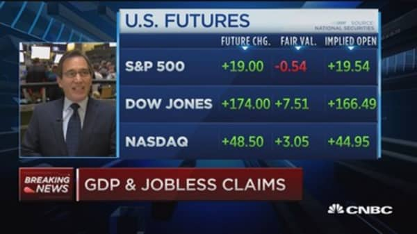 Jobless claims down 6K to 271,000, Q2 GDP (revised) up 3.7%