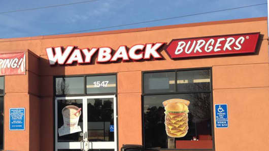A Wayback Burgers location