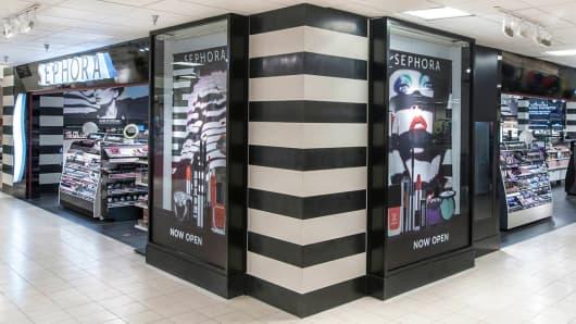 A Sephora store inside a J.C. Penney