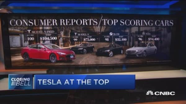 Tesla at the top