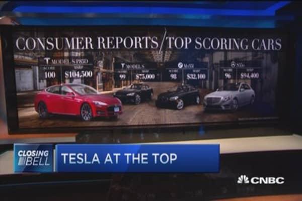Tesla at the top