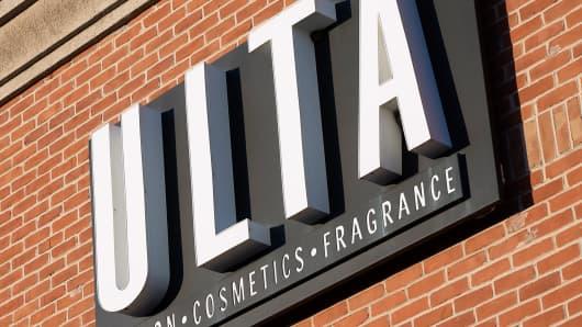 Ulta Beauty cosmetics store, in Moorestown, New Jersey.