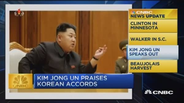 CNBC update: Kim Jong Un praises accord