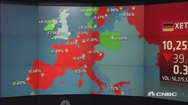 European stocks close lower on China, Fed jitters