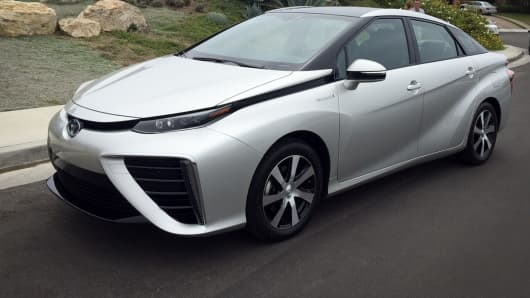 Toyota's Mirai is a hydrogen cell fuel based vehicle.