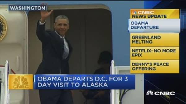 CNBC update: President Obama visits Alaska