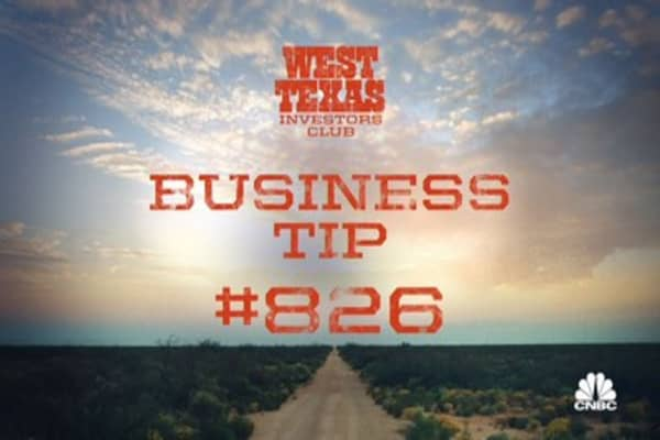 West Texas Investors Club: Business Tip #826