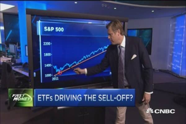 Are ETFs driving the selloff?