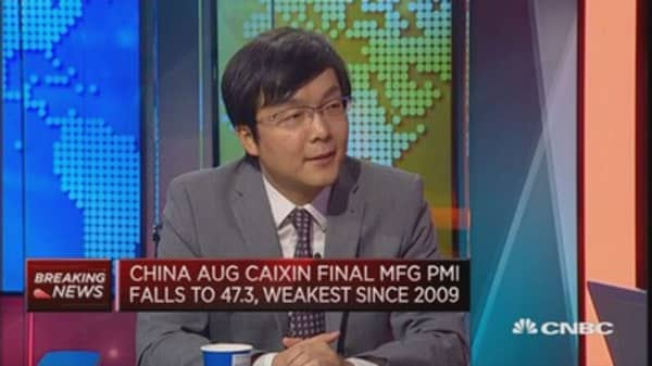 China twin PMIs show weak demand: OCBC