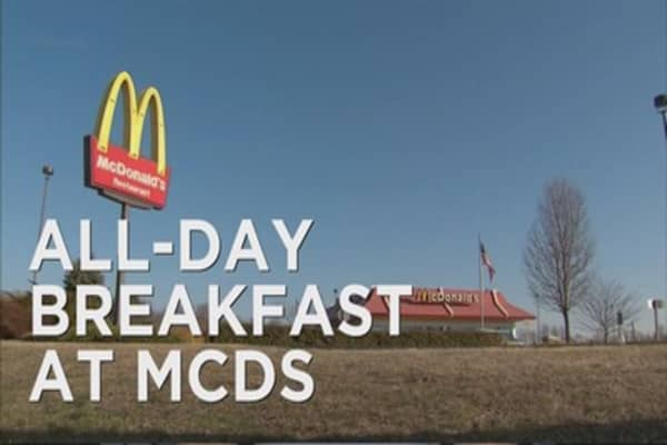McDonald's rolls out all day breakfast