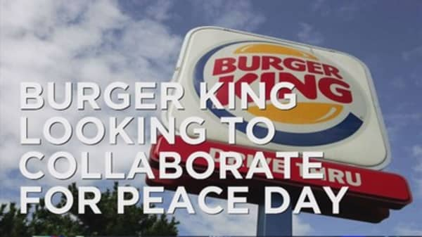 Burger King finds a partner for its peace burger