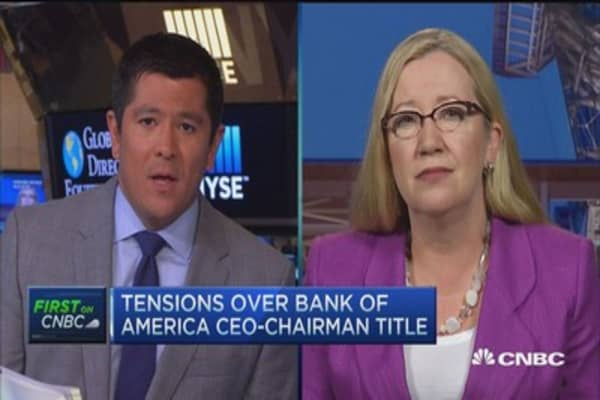 CalPERS, CalSTRS wants independent BofA Chair