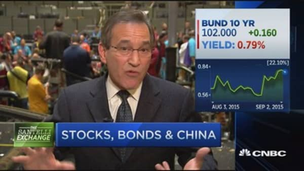 Santelli Exchange: Stocks, bond & China