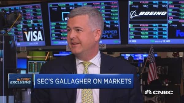 Don't panic on volatility: SEC's Gallagher